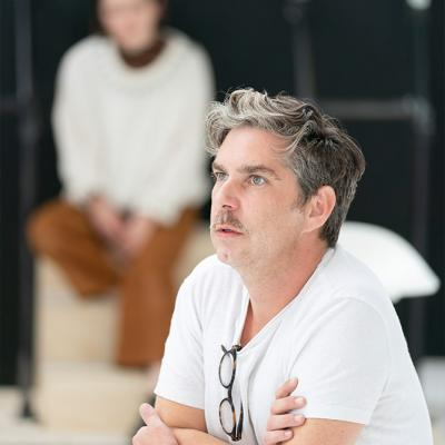 Gerard Carey in rehearsals for Twelfth Night. Photo by Johan Persson
