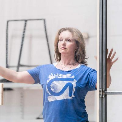 Dervla Kirwan in rehearsal for Jesus Hopped the 'A' Train (c) Johan Persson