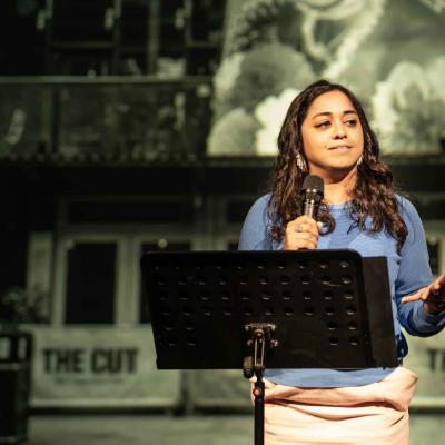 Shahidha Bari in The New Tomorrow (2020) Photo by Marc Brenner