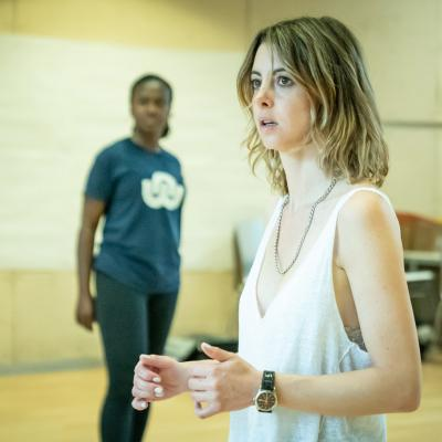 Naana Agyei-Ampadu & Julie Dray in rehearsal for Fairview © Marc Brenner