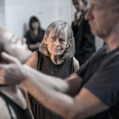 Annie Firbank in rehearsals for Blood Wedding. Young Vic 2019. Photo by Marc Brenner.