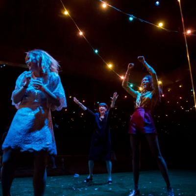 Billie Piper, Maureen Beattie and Thalissa Teixeria in Yerma at the Young Vic. Photo by Johan Persson