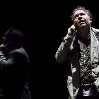 Brendan Cowell (John) in Yerma at the Young Vic, photo by Johan Persson
