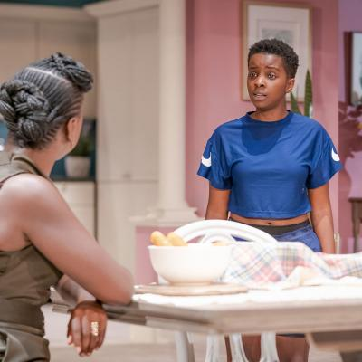 Naana Agyei-Ampadu and Donna Banya in Fairview at the Young Vic. Photo by Marc Brenner.
