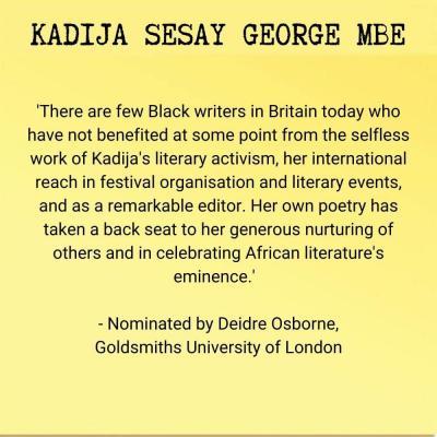 Kadija Sesay George MBE