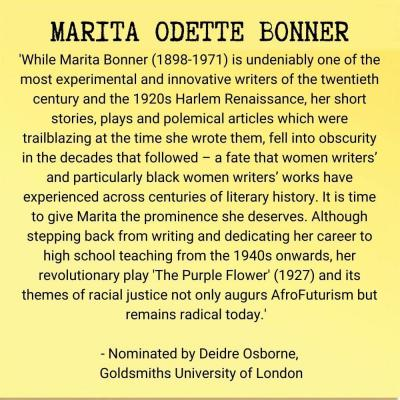 Marita Odette Bonner