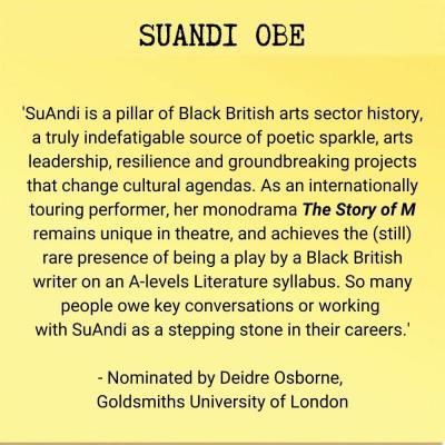 SuAndi OBE