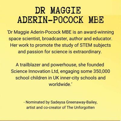 Dr Maggie Aderin-Pocock