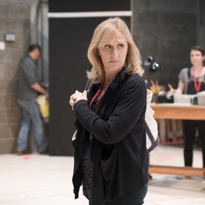 Jenna Russell in rehearsal for Fun Home at the Young Vic. Photo by Marc Brenner