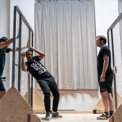 Joplin Sibtain, Ukweli Roach and Matthew Douglas in Jesus Hopped the 'A' Train (c) Johan Persson