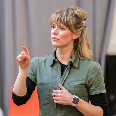 Kate Hewitt in rehearsal for Jesus Hopped the 'A' Train (c) Johan Persson