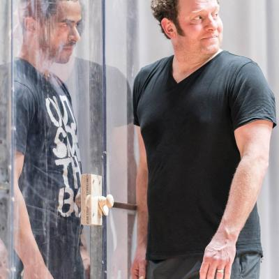 Ukweli Roach and Matthew Douglas in rehearsal for Jesus Hopped the 'A' Train (c) Johan Persson