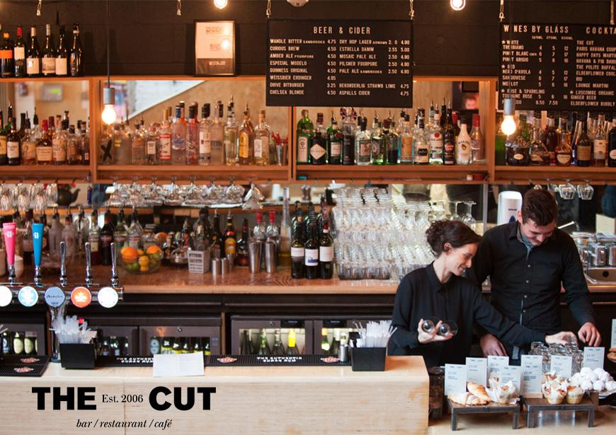 Staff working behind the counter of the The Cut Bar Restaurant and Cafe
