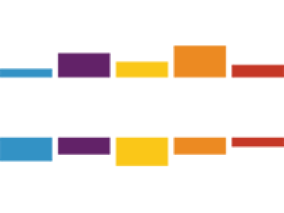 "Stitcher logo - with ""Stitcher"" text written in white, surrounded by colourful blocks."