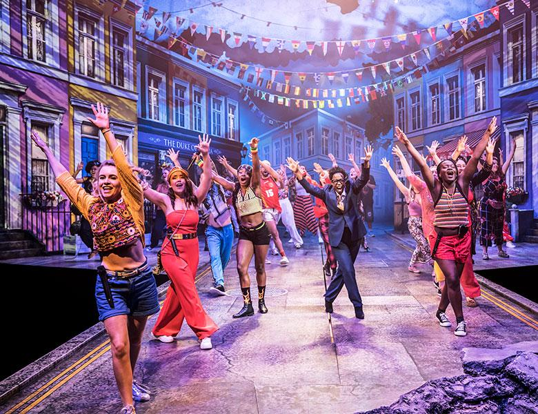 Community chorus of Twelfth Night at the Young Vic
