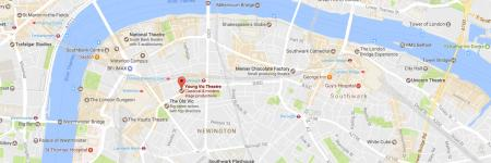 Google map of Young Vic's location